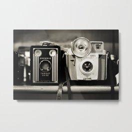 A pair of Kodak Brownies Metal Print