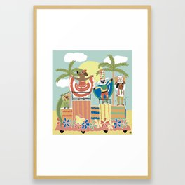 Colombia Happy Carnival Framed Art Print
