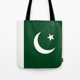 The National Flag of Pakistan - Authentic Version Tote Bag