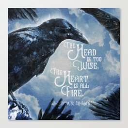 The Raven King - All Fire Canvas Print