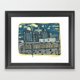Atlanta From a Window Framed Art Print