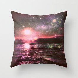 Mystic Waters Deep Pastels Throw Pillow