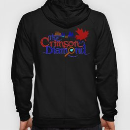 The Crimson Diamond colour logo Hoody