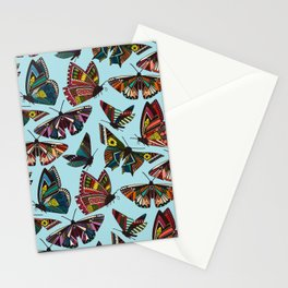 summer butterflies multi sky Stationery Cards