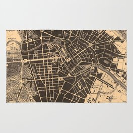 Vintage Map of Berlin Germany (1907) Rug
