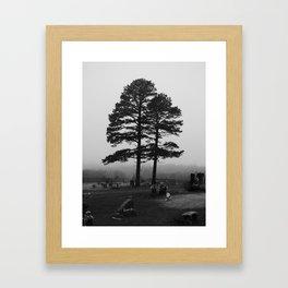 spooky tree III Framed Art Print