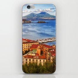 Italy, the gulf of Naples seen from the Posillipo hill iPhone Skin
