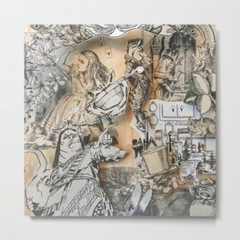 Alice In Wonderland- Through The Looking Glass Shadowbox Detail Metal Print