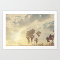 santa monica Art Prints featuring Santa Monica by SoCal Chic Photography