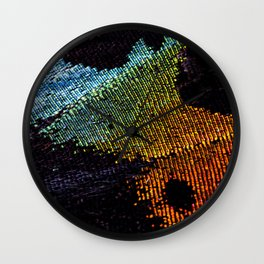 Vibrant Iridescence of The Madagascan Sunset Moth Wall Clock