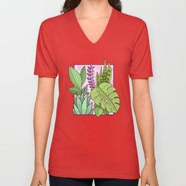 Framed Plants Unisex V-Neck