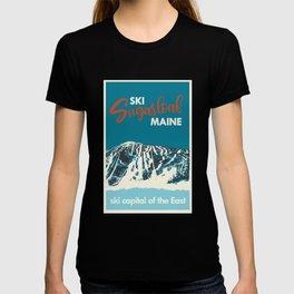Ski Sugarloaf Maine vintage ski poster T-shirt