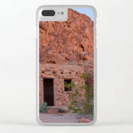 CCC Cabins-1, Valley of Fire State Park, Nevada Clear iPhone Case