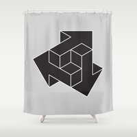 arrows Shower Curtains featuring Arrows by Dizzy Moments