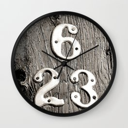 6 over 23 Wall Clock