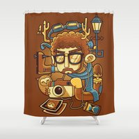 instagram Shower Curtains featuring Instagram by anggatantama
