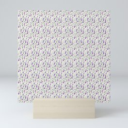 Little Lavender Flowers Pattern Mini Art Print