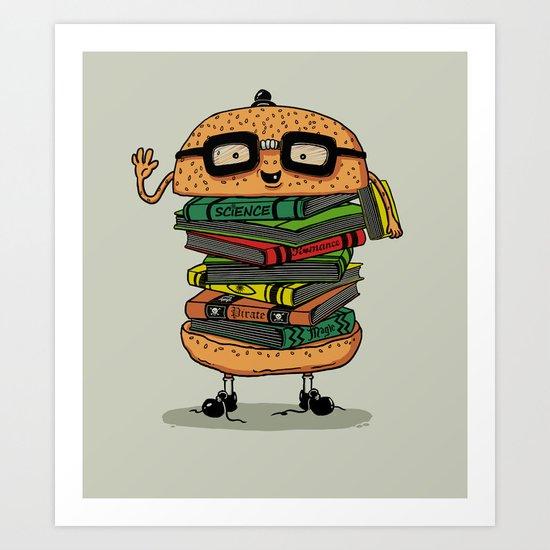 Geek Burger Art Print