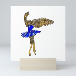 Owl Ballerina Tutu Mini Art Print