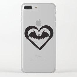 Bat Heart Clear iPhone Case