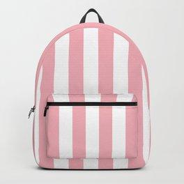 Vertical Coral Stripes Pattern Backpack