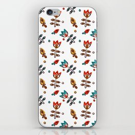Pattern in Nordic Floral Style #5 iPhone Skin