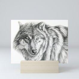 Wolf portrait G031 Mini Art Print