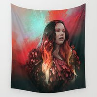 phoenix Wall Tapestries featuring Phoenix by Georgina Elizabeth