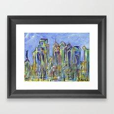 Philadelphia Skyline Painting Framed Art Print