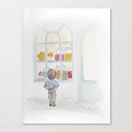 La vitrine Canvas Print