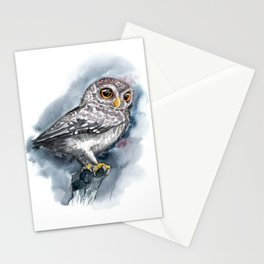 Watercolor Little Owl Stationery Cards