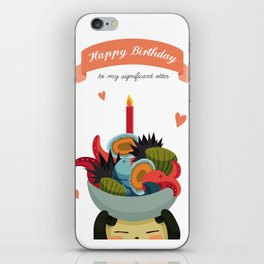 Happy Birthday to my significant otter #2 iPhone Skin