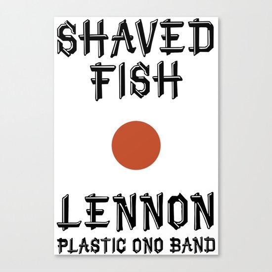 Shaved fish Canvas Print