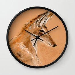 Ethiopian Wolf Wall Clock