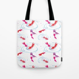 Japanese Watercolor Painting Koi Fish Tote Bag
