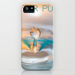 drop of water iPhone Case