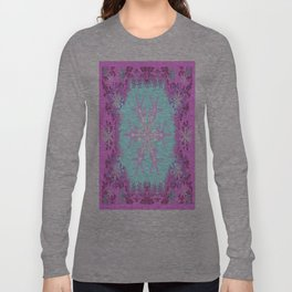 Decorative Pink Winter Snowflakes Abstract Art Long Sleeve T-shirt