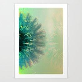 blowing dandelion VII Art Print