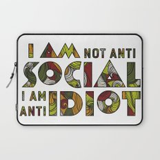 Social Sarcastic Typography Design Laptop Sleeve