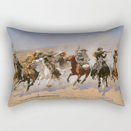 A Dash for the Timber - Frederic Remington Rectangular Pillow