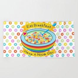 Eat Breakfast! Beach Towel