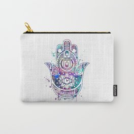 Hamsa Hand Watercolor Poster Wedding Gift Carry-All Pouch