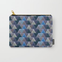 Blue Velvet Triangles Carry-All Pouch