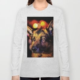 A German Shepherd. (Painting) Long Sleeve T-shirt