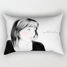 Léa Seydoux - Melancholia Serie Rectangular Pillow