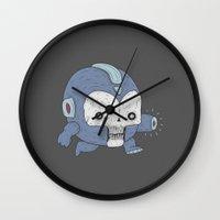 mega man Wall Clocks featuring MEGA MAN / NES by UNDEAD MISTER / MRCLV