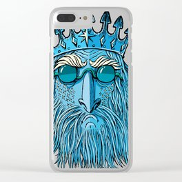 Ice King Head Clear iPhone Case