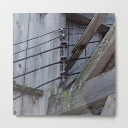 Electric Wires Metal Print