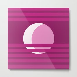 Peek-a-Boo Pink Moon Metal Print