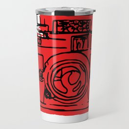 Click Click Red Travel Mug